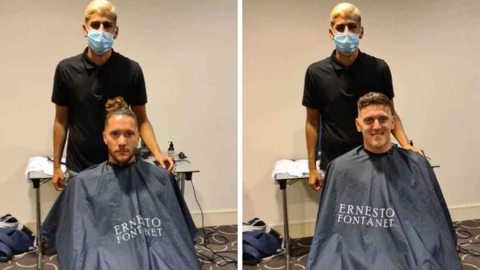 Ernesto Fontanet, el barbero de 19 años que se fue a vivir a España y hoy le corta el pelo a los futbolistas de la selección argentina