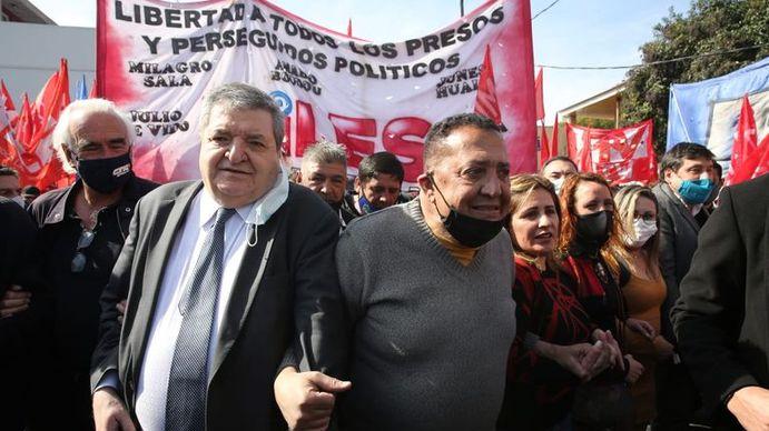 Juan Ramos Padilla junto a Luis DElía