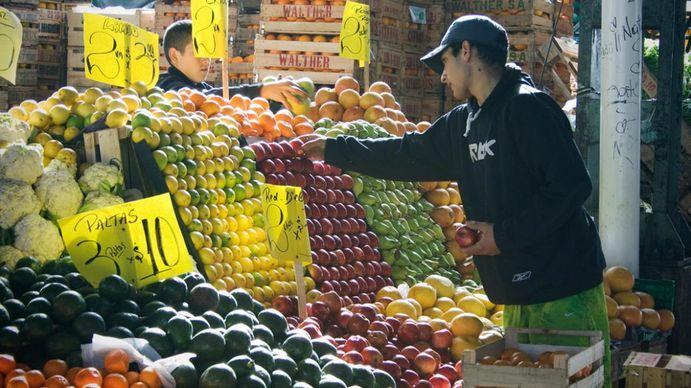 El precio de las frutas y verduras