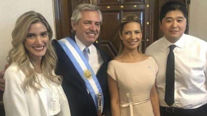 Sofía Pacchi junto a Alberto Fernández y Fabiola Yáñez